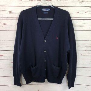 Polo Ralph Lauren Navy Button Cardigan Sweater XL